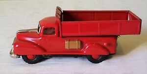 "Early Marusan ""SAN"" Toys Japan Friction GMC DUMP TRUCK 50's SUPER RARE MINT"