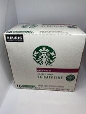 New listing Starbucks Plus Coffee 2X Caffeine Dark Roast Single Cup Coffee K-Cups Keurig