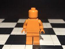 Lego Plain Orange Minifigure Head Torso Hands Legs / Monochrome