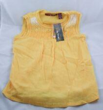NWT Epic Threads Girls Sleeveless Yellow Tee Lace Type Shirt Small P33