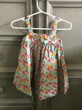 Petit Bateau Baby Girls Flower Print Cotton Dress 6M  NWT