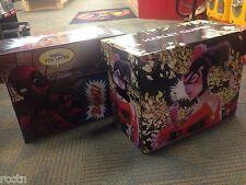 3 DEADPOOL & 2 HARLEY QUINN ART SHORT BOX CASE Comic Book Storage DC Marvel NEW