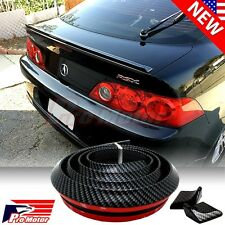 """Universal Glossy 3D Carbon Fiber Trunk Spoiler Wing 55"""" Rear Roof Tail Lip"""