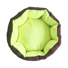 YulDek Dog Cats, Pets Bed, Soft Woolly Fleece and Diagonal  Shaped Basket Nest.