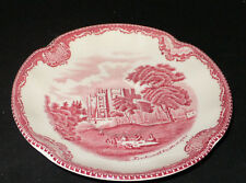 Johnson Brothers England OLD BRITAIN CASTLES rosso sotto tazza saucer 14cm