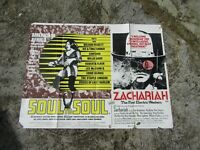 Vintage Movie poster - Original - Soul to soul & Zachariah - 101 x 75 cm - 1971