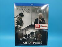 neuf film blu ray coffret 3 films american sniper sully 15h17 paris