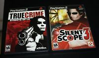 Playstation 2 Game Lot Silent Scope 3 & True Crime Streets of LA   --AAX=