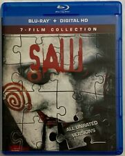 SAW UNRATED 7 FILM COLLECTION BLU RAY 3 DISC SET FREE WOLRD WIDE SHIPPING HORROR