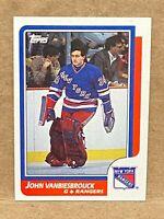 1986-87 Topps John Vanbiesbrouck Rookie Card #9 RC New York Rangers
