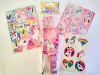 Unicorn Stationery Set Activity Book Tattoos & Stickers Girls Party Bag Fillers