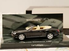 MINICHAMPS BENTLEY CONTINENTAL GTC BLACK ART.436139030 1:43 NEW DIE-CAST