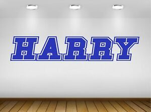 Custom Personalised BOYS child NAME Wall Sticker Decal - 20 colour choice - S4