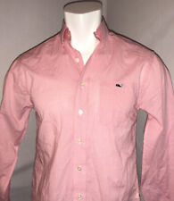 Vineyard Vines Mens Small Classic Fit Whale Shirt Gingham Plaid Pink White