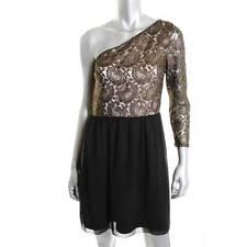KENSIE ~ DESIGNER $138 BLACK LACE ONE SHOULDER COCKTAIL DRESS SIZE 8 NWT