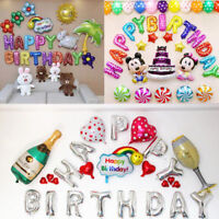 """16"""" LARGE HAPPY BIRTHDAY SELF INFLATING BALLOONS BANNER BUNTING PARTY DECORATION"""