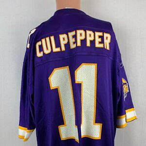 Reebok Daunte Culpepper Minnesota Vikings Replica Jersey Vtg NFL Football XL