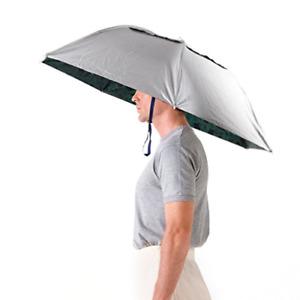 Luwint 36'' Diameter Elastic Fishing Gardening Folding Umbrella Hat Headwear,