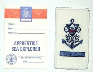 Sea Scouts / Explorers BSA – Vintage Apprentice Rank Badge w / Card 1989/2000 -