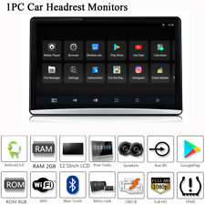 """12.5"""" Touch Screen Car Headrest Rear Seat Monitor Player Android 6.0 Mirror Link"""
