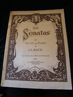 Partition JS Bach 6 Sonates pour Flûte et Piano