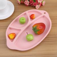 Baby Toddler Silicone Anti-Slip Table Food Tray Placemat Plate Mat Divided Bowl