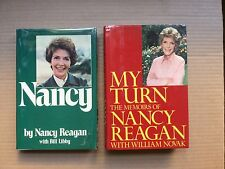 """2 hand signed & inscribed books by Nancy Reagan """"Nancy"""" and """"My Turn"""""""