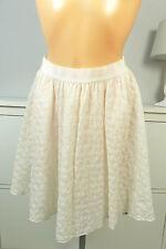 BENETTON Rock Skirt Faltenrock Romantik Nude Rosa Gr. 34 XS (DG26)