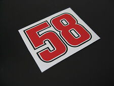 MARCO SIMONCELLI 58 sticker/decal x 2