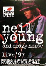 NEIL YOUNG  Konzertplakat von 1997