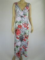 Katies Ladies Paradise Lost Coral Maxi Dress sizes Small 2XL Colour Multi