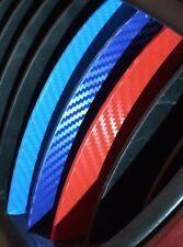 3x Carbon Fiber Kidney Color Grill Stripes Decal Stickers BMW M3 M5 M6 E46 E39