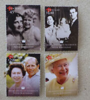 2016 NEW ZEALAND QEII 90tH BIRTHDAY SET OF 4 MINT STAMPS MNH