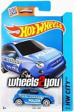 FIAT 500 #50 blue Polizia - Treasure Hunt - Card Error - 2015 Hot Wheels