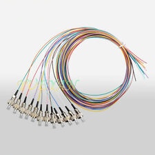 1M 12 Fibers FC/UPC Single-Mode Color-Coded Fiber Optic Pigtail, Unjacketed