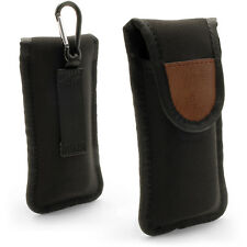 Black Neoprene Pouch Carrying Case Cover for Digital Voice Recorder 125x45x21mm
