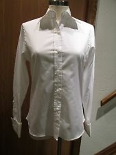 Bill Blass Classic White Button Front Top Blouse Size 6