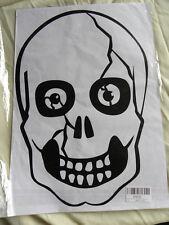 "NEW-Halloween Skull Wall transfer Sticker Decal Room Decoration 17"" x 12""-EB40"