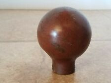 New listing Vintage Antique Brass Horse Harness Hame Ball Knob Cane Walking Stick End