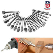 20pcs Drill Bit Tools For Dremel Kit Steel Rotary Burrs High Speed Wood Carving