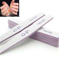 2Pcs Nail Sanding Files Manicure Pedicure Tips Nail File 100/180 Buffer Block