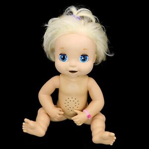 """2006 Baby Alive Blonde Soft Face Doll Interactive Eats Drinks Poops Talks 16"""""""