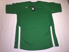 New mens Sols Maracana short sleeve shirt. Green/White L/Xl. K15.