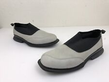 11702d4551a604 Michael Jordan Two3 Suede Gray Black Lounging Slippers Dress Shoes Size 10