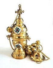 Greek Russian Orthodox Brass Censor Kadilo Thymiato for Church 02
