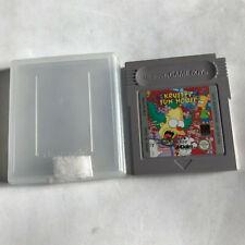 Krusty's Fun House / Cart & Case / Nintendo Game Boy Original / Colour