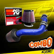 Blue Cold Air Intake + K&N Air Filter For 02-06 Sentra Spec-V SE-R 2.5L