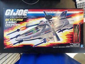 Vintage G.I.Joe 1988 Skystorm X-Wing Chopper with Box