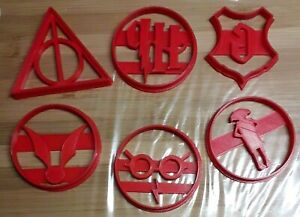 3D Printed Harry Potter Inspired Cookie Cutters