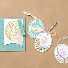 Stampin Up THAT'S THE TAG Photopolymer Stamps & TIMELESS TAGS Thinlits